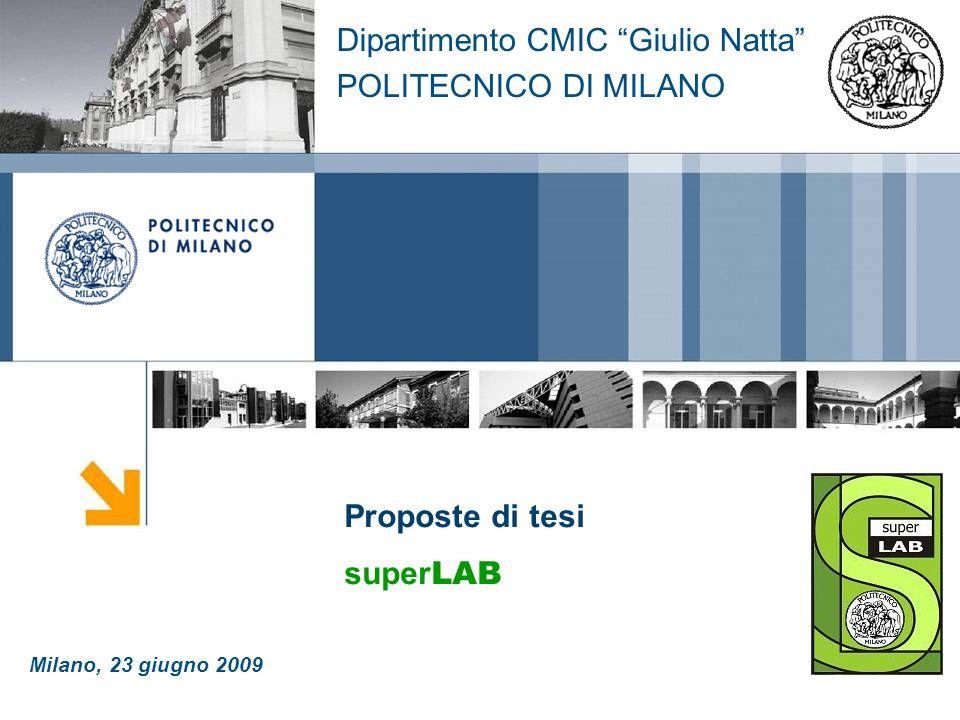 Dipartimento CMIC Giulio Natta POLITECNICO DI MILANO