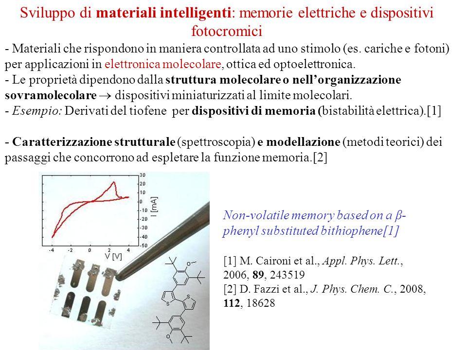 Sviluppo di materiali intelligenti: memorie elettriche e dispositivi fotocromici