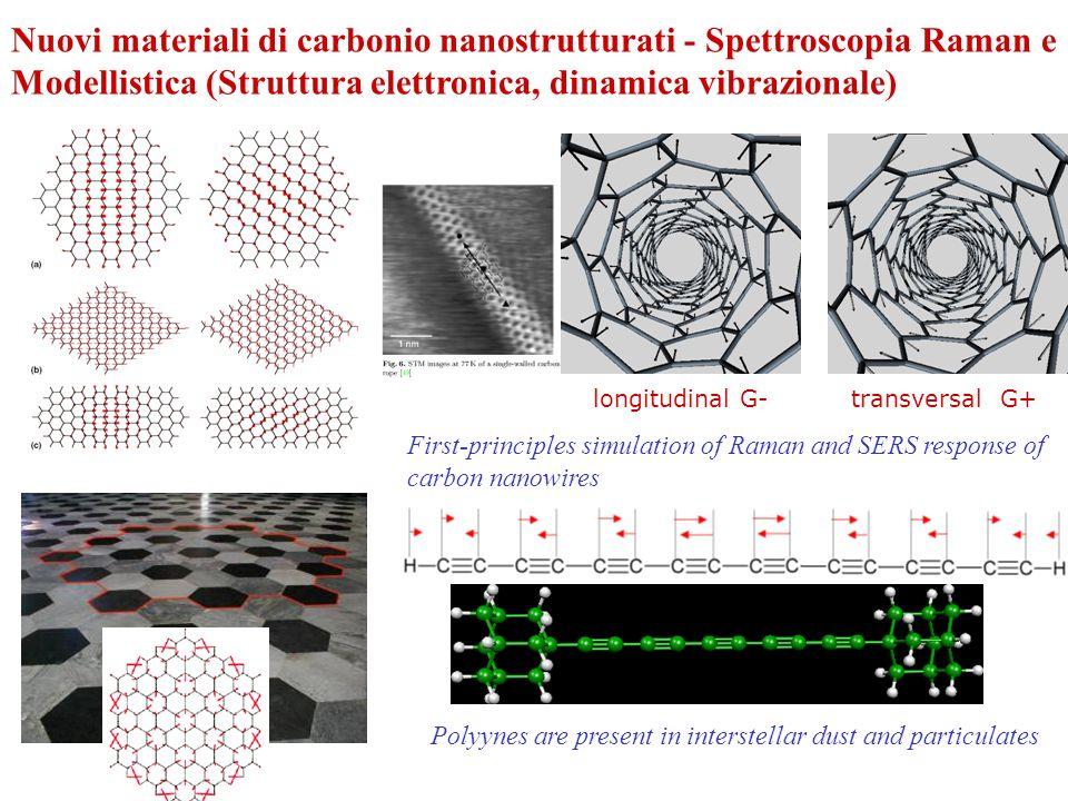 Nuovi materiali di carbonio nanostrutturati - Spettroscopia Raman e Modellistica (Struttura elettronica, dinamica vibrazionale)
