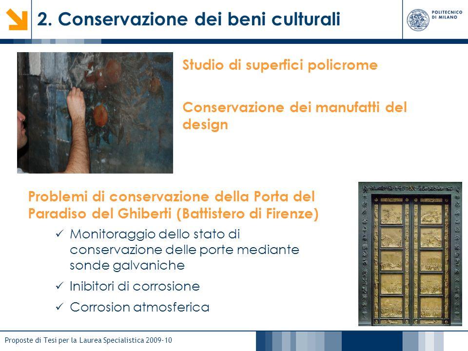 2. Conservazione dei beni culturali