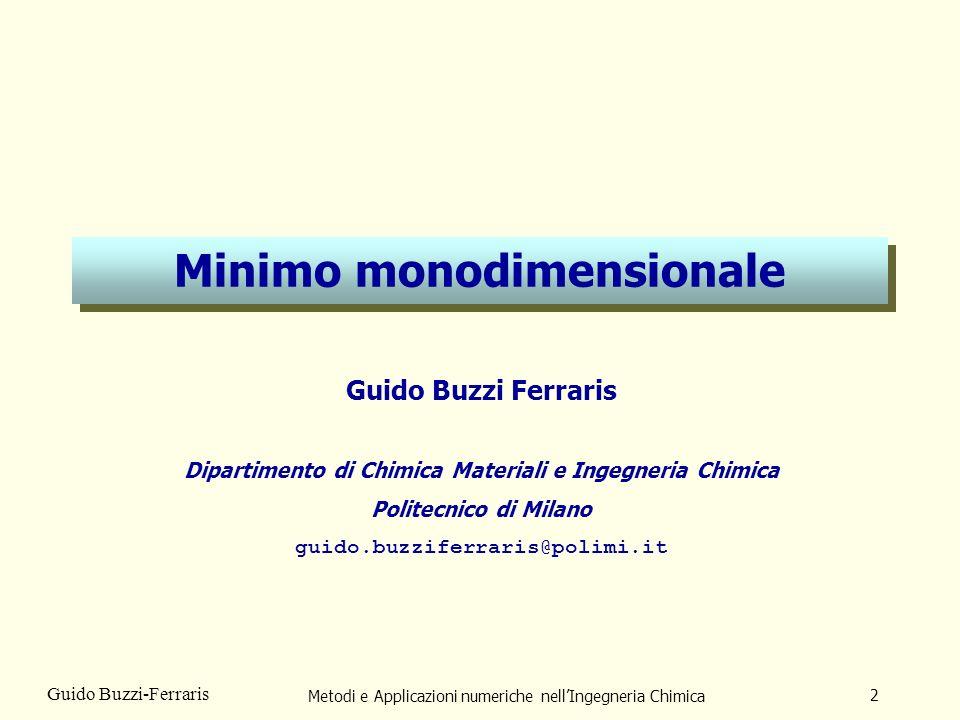 Minimo monodimensionale