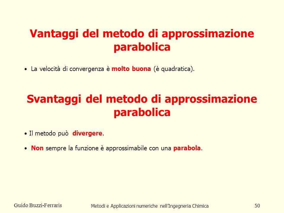 Vantaggi del metodo di approssimazione parabolica