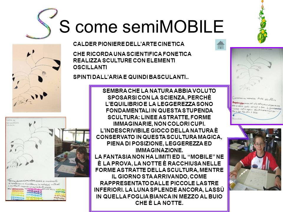 S come semiMOBILE CALDER PIONIERE DELL'ARTE CINETICA