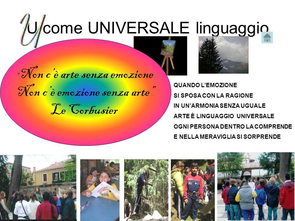 U come UNIVERSALE linguaggio