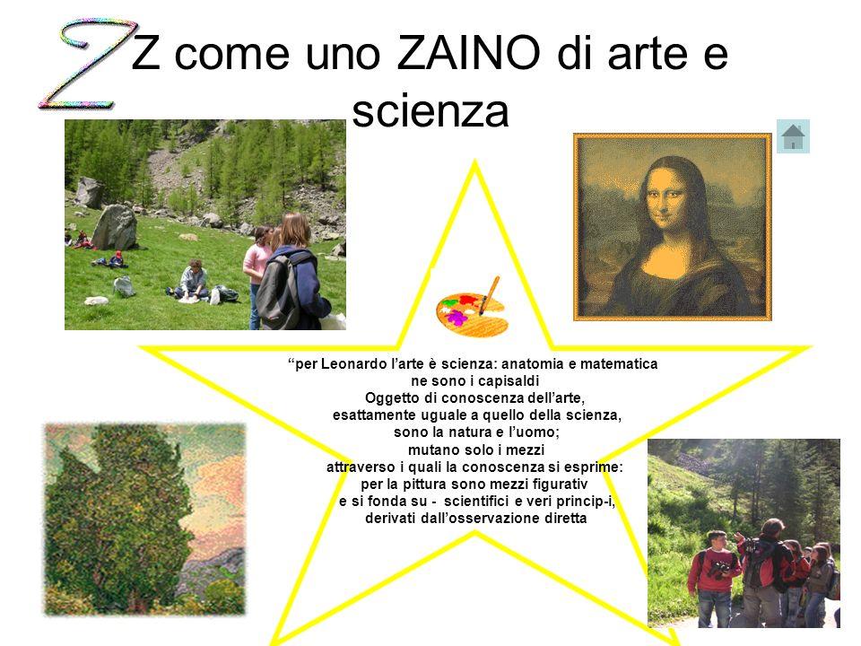 Z come uno ZAINO di arte e scienza