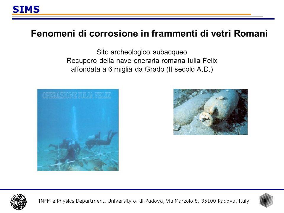 Fenomeni di corrosione in frammenti di vetri Romani