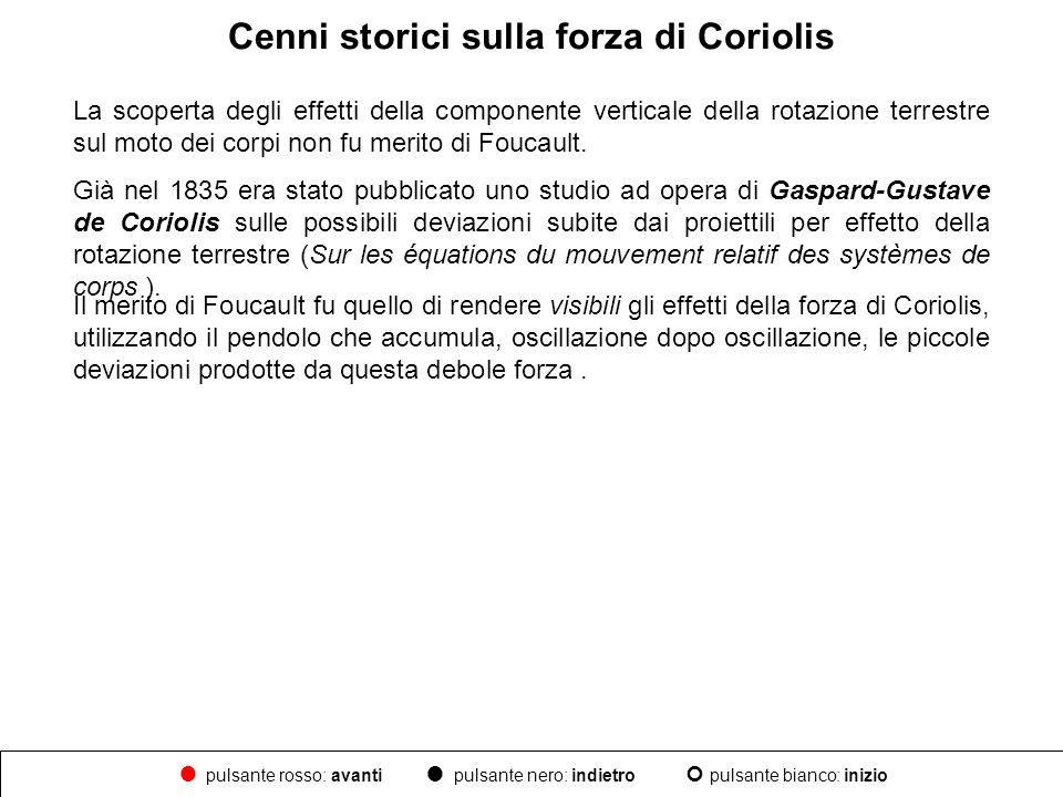 Cenni storici sulla forza di Coriolis
