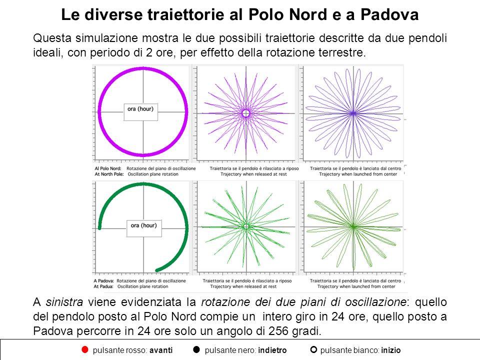 Le diverse traiettorie al Polo Nord e a Padova