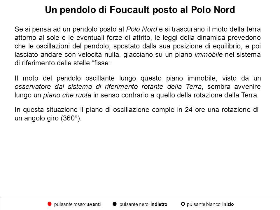 Un pendolo di Foucault posto al Polo Nord