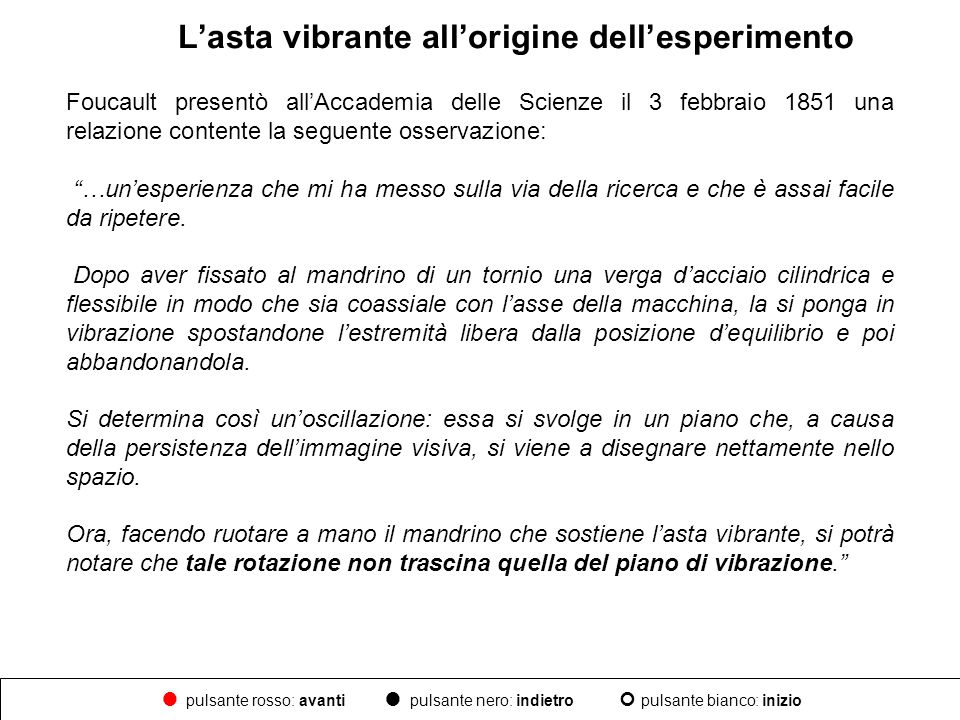 L'asta vibrante all'origine dell'esperimento