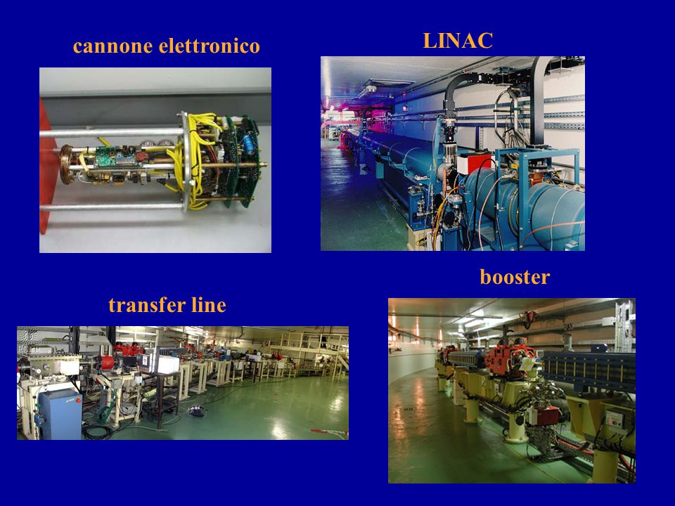 LINAC cannone elettronico booster transfer line
