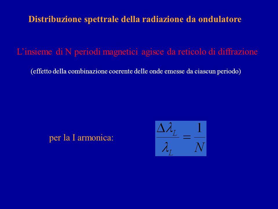 Distribuzione spettrale della radiazione da ondulatore
