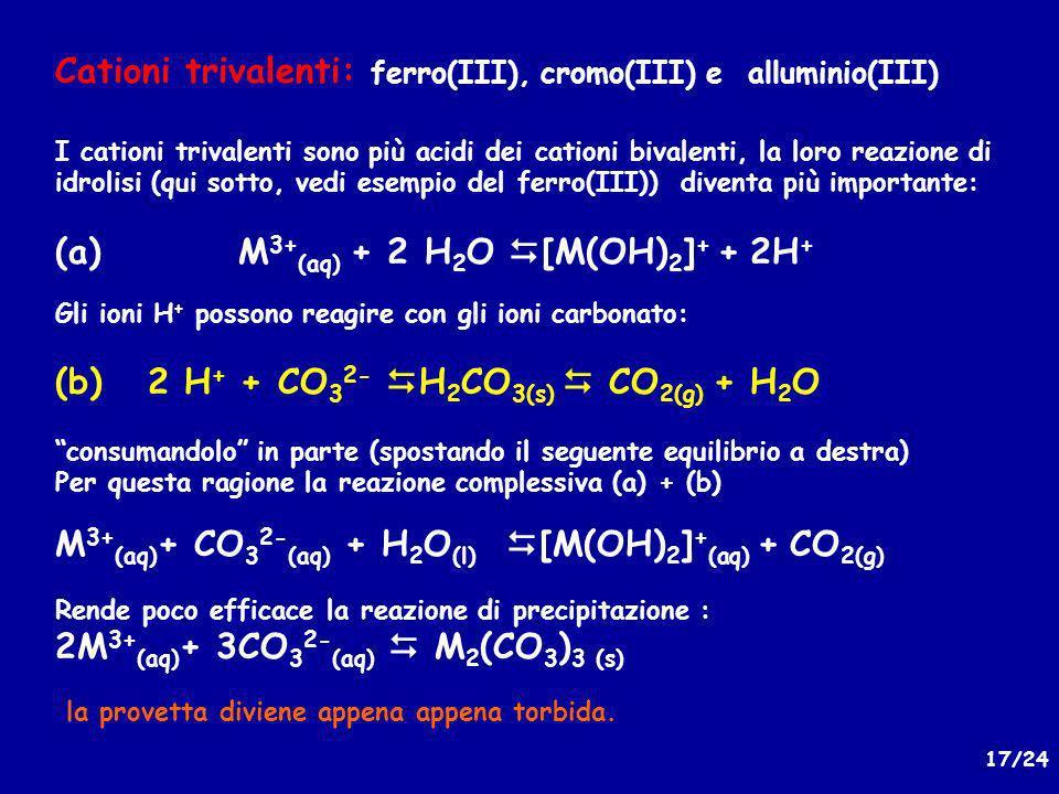 Cationi trivalenti: ferro(III), cromo(III) e alluminio(III)