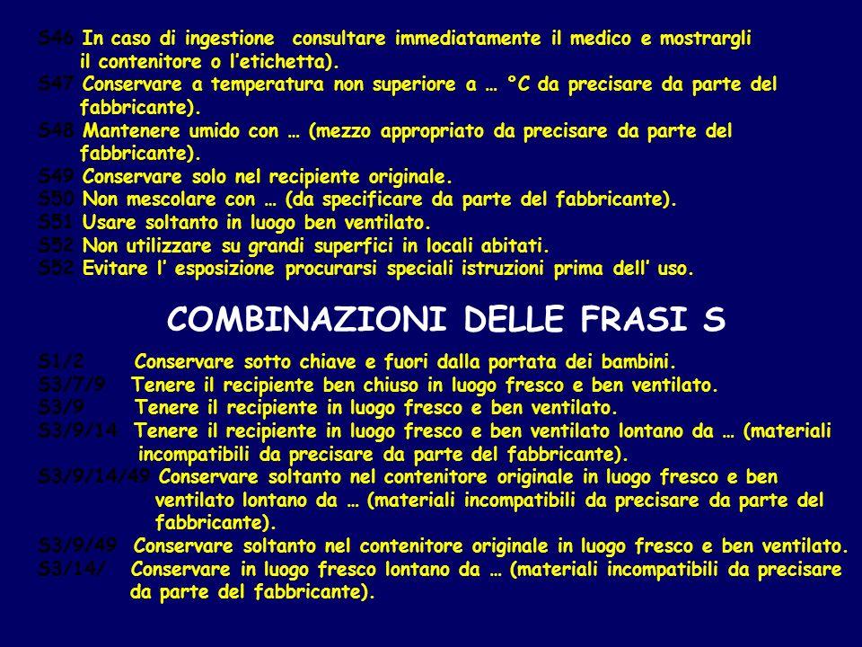COMBINAZIONI DELLE FRASI S