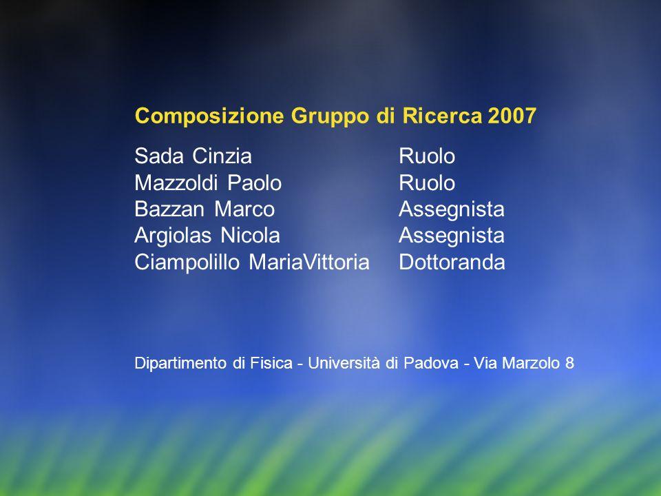 Composizione Gruppo di Ricerca 2007