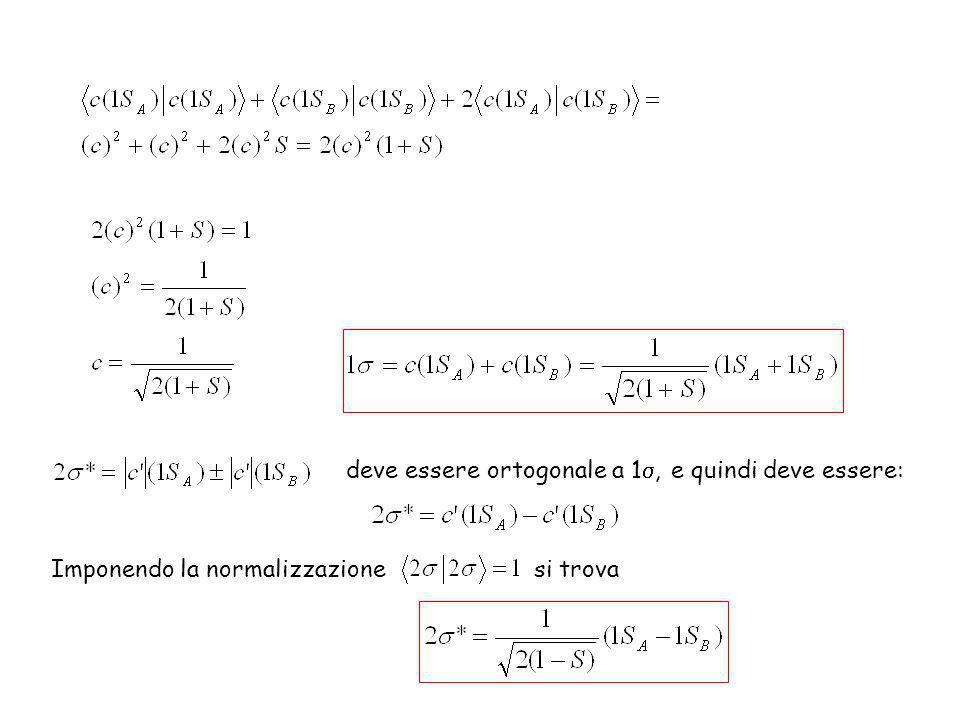 deve essere ortogonale a 1s, e quindi deve essere: