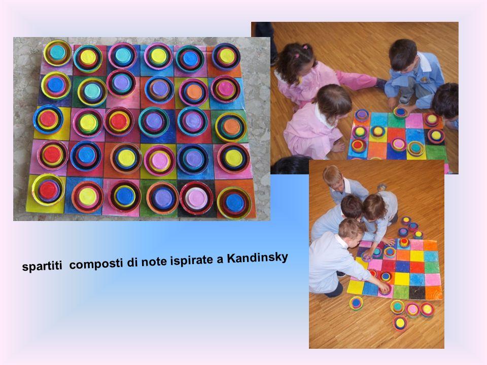 spartiti composti di note ispirate a Kandinsky