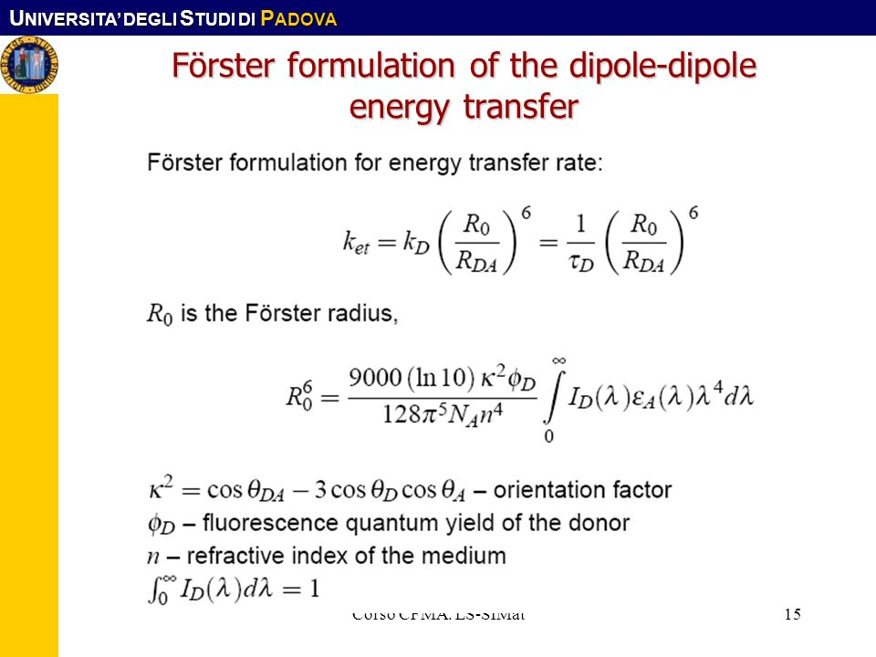 Förster formulation of the dipole-dipole energy transfer