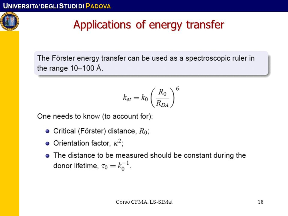 Applications of energy transfer