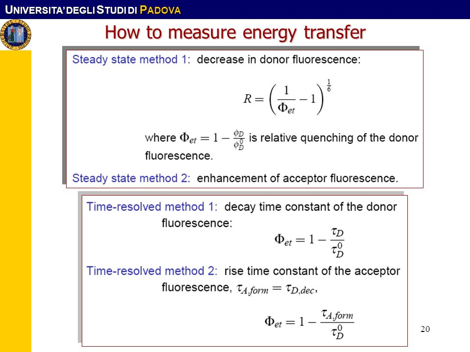 How to measure energy transfer