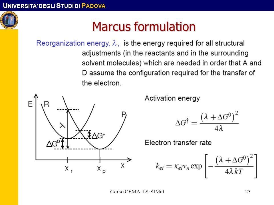 Marcus formulation Corso CFMA. LS-SIMat Corso CFMA. LS-SIMat