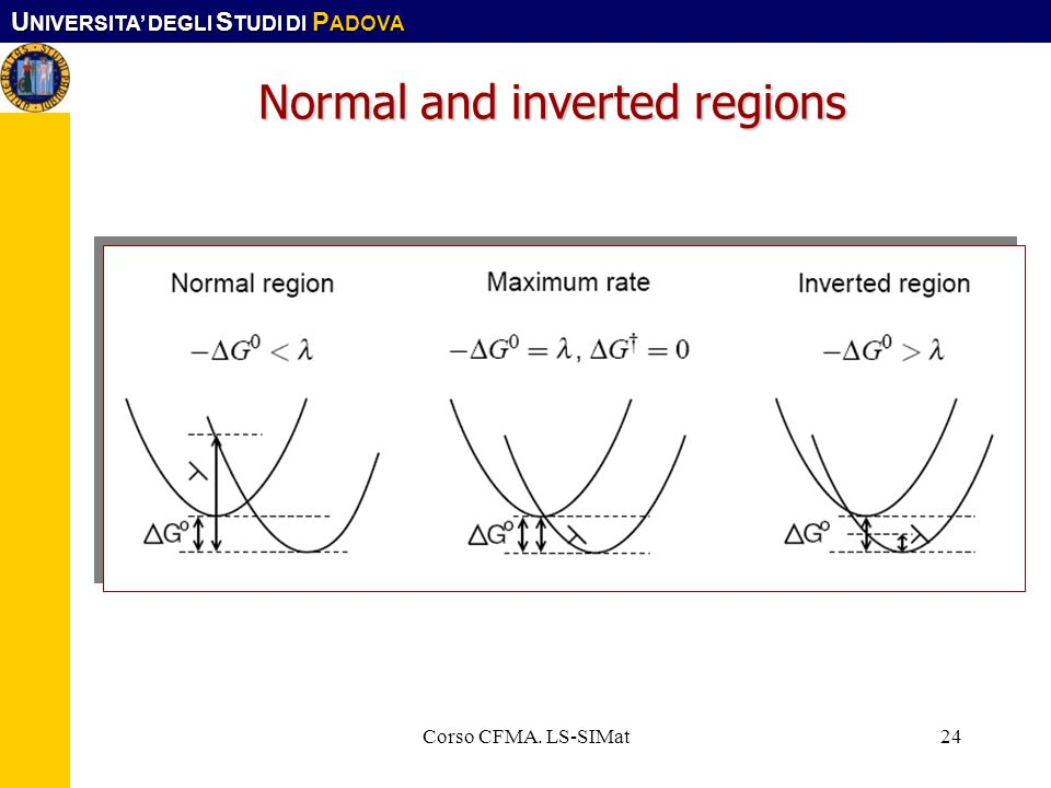 Normal and inverted regions
