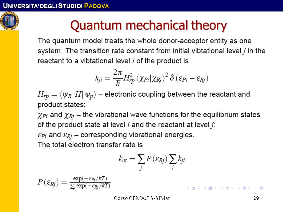 Quantum mechanical theory