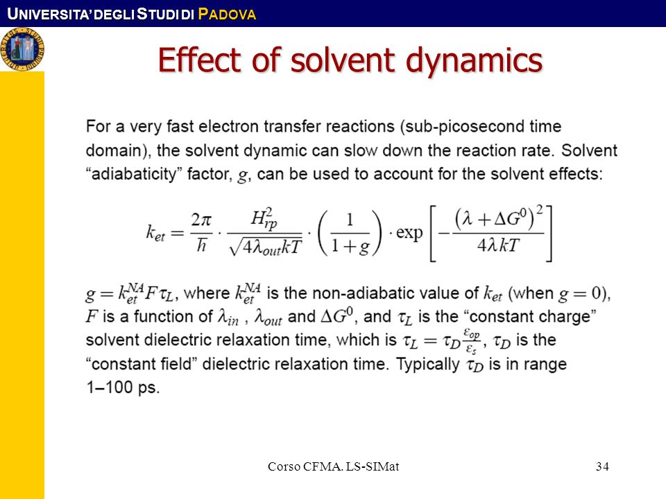 Effect of solvent dynamics