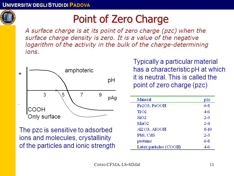 Point of Zero Charge