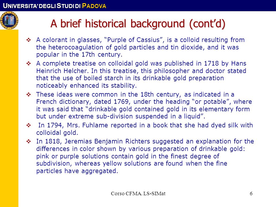 A brief historical background (cont'd)