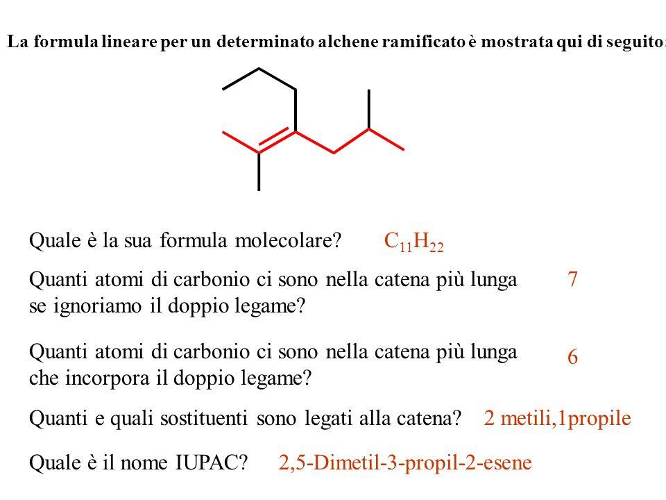 Quale è la sua formula molecolare C11H22