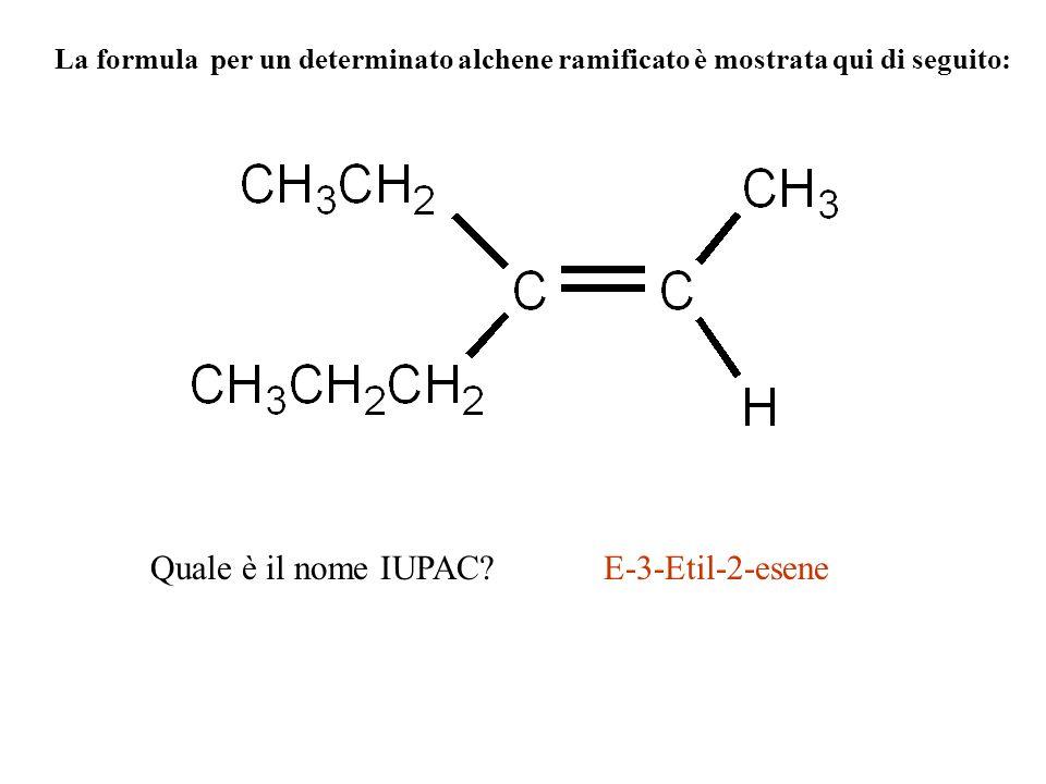 Quale è il nome IUPAC E-3-Etil-2-esene