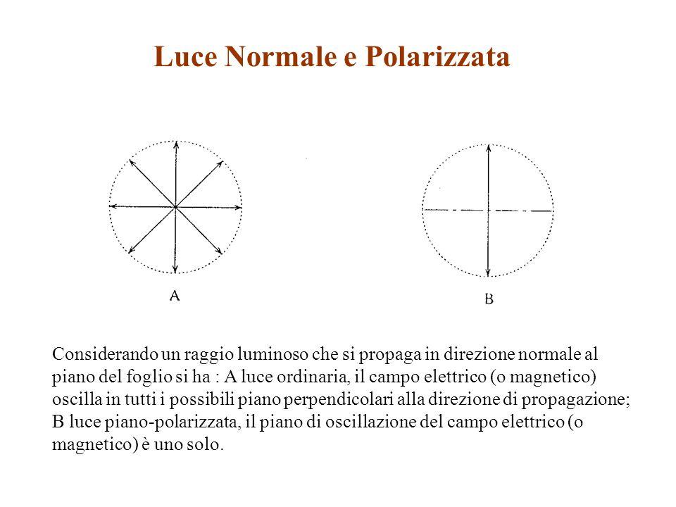 Luce Normale e Polarizzata