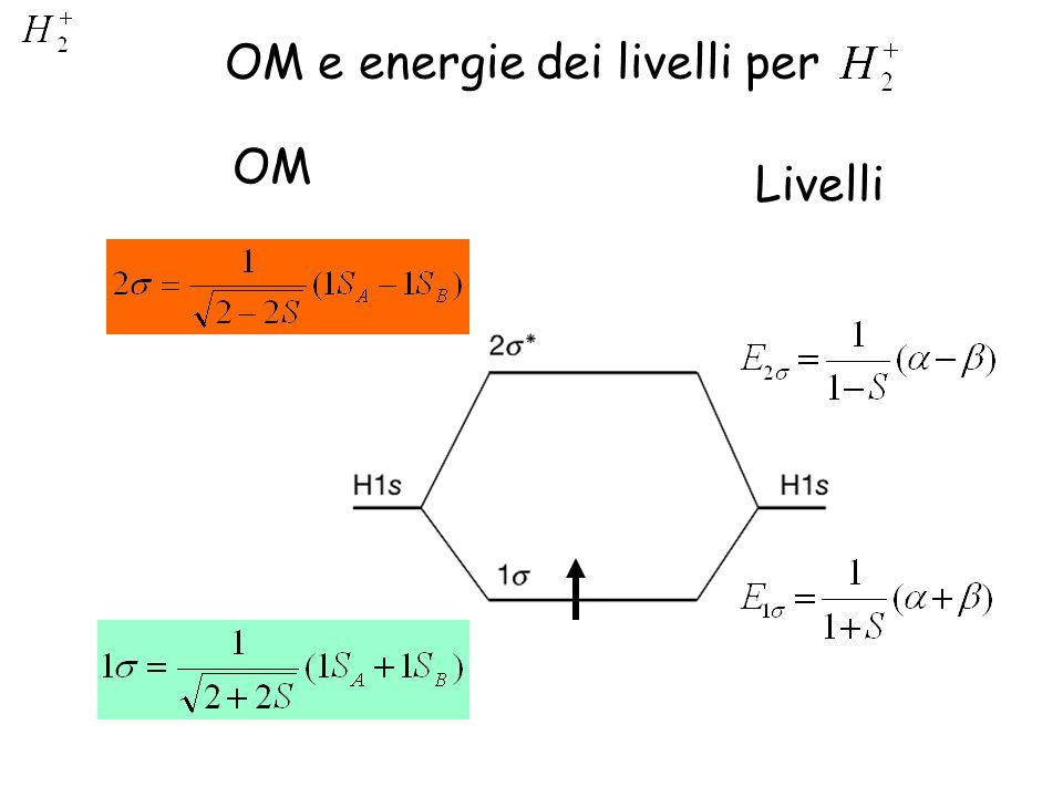 OM e energie dei livelli per