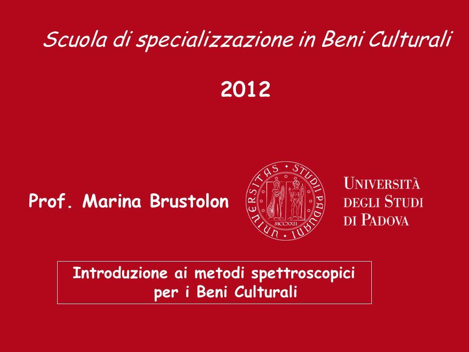 Introduzione ai metodi spettroscopici per i Beni Culturali