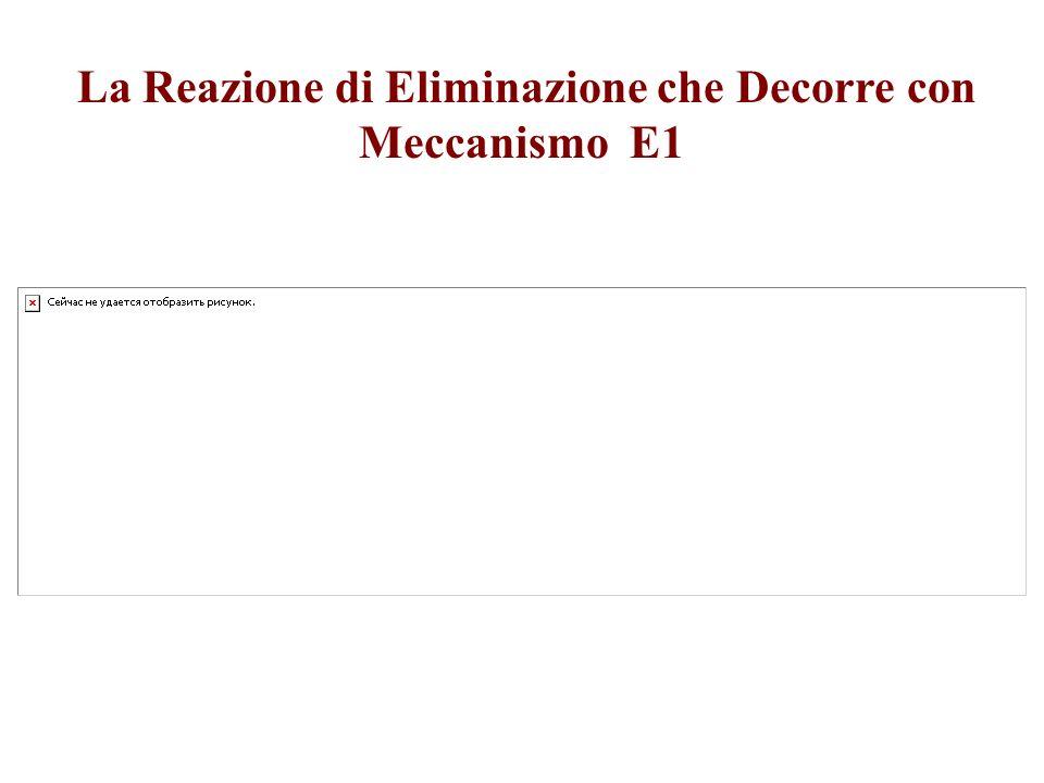 La Reazione di Eliminazione che Decorre con Meccanismo E1