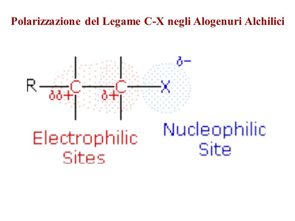 Polarizzazione del Legame C-X negli Alogenuri Alchilici