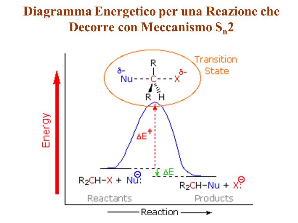 Diagramma Energetico per una Reazione che Decorre con Meccanismo Sn2