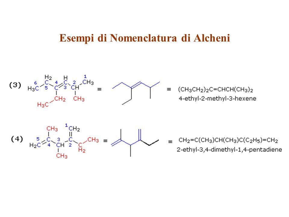 Esempi di Nomenclatura di Alcheni