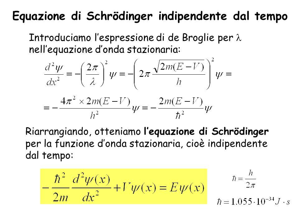 Equazione di Schrödinger indipendente dal tempo
