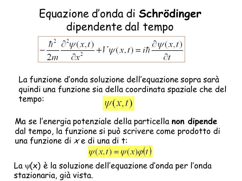 Equazione d'onda di Schrödinger dipendente dal tempo