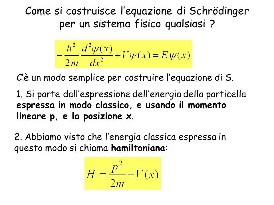 Come si costruisce l'equazione di Schrödinger per un sistema fisico qualsiasi