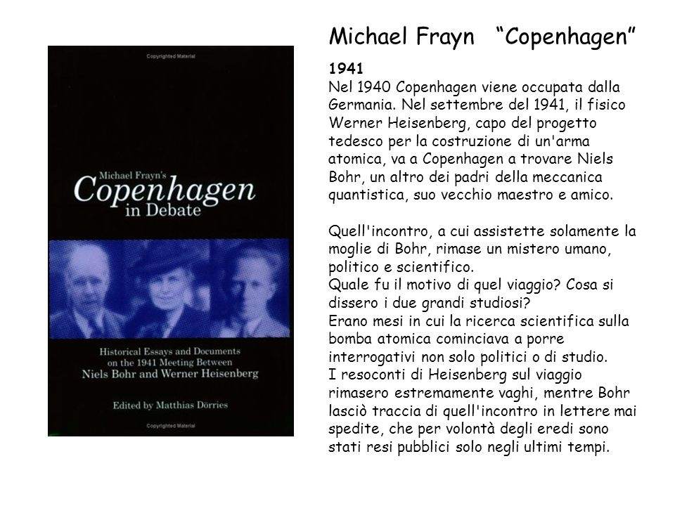 Michael Frayn Copenhagen