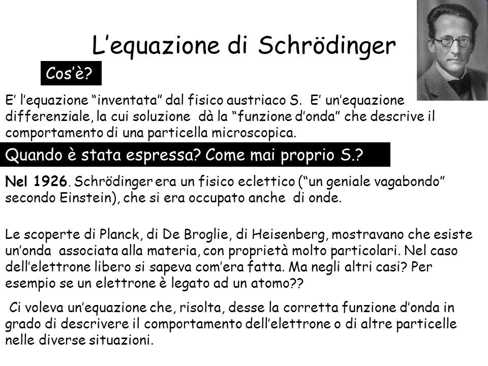 L'equazione di Schrödinger