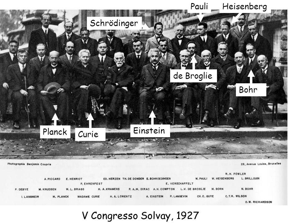 V Congresso Solvay, 1927 Pauli Heisenberg Schrödinger de Broglie Bohr