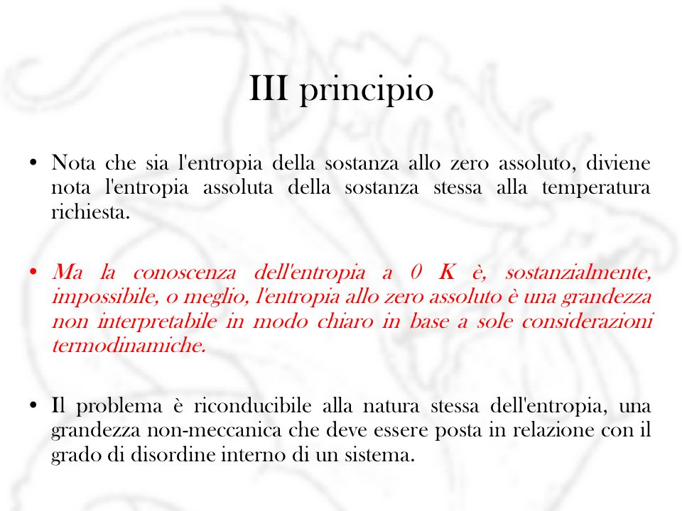 III principio