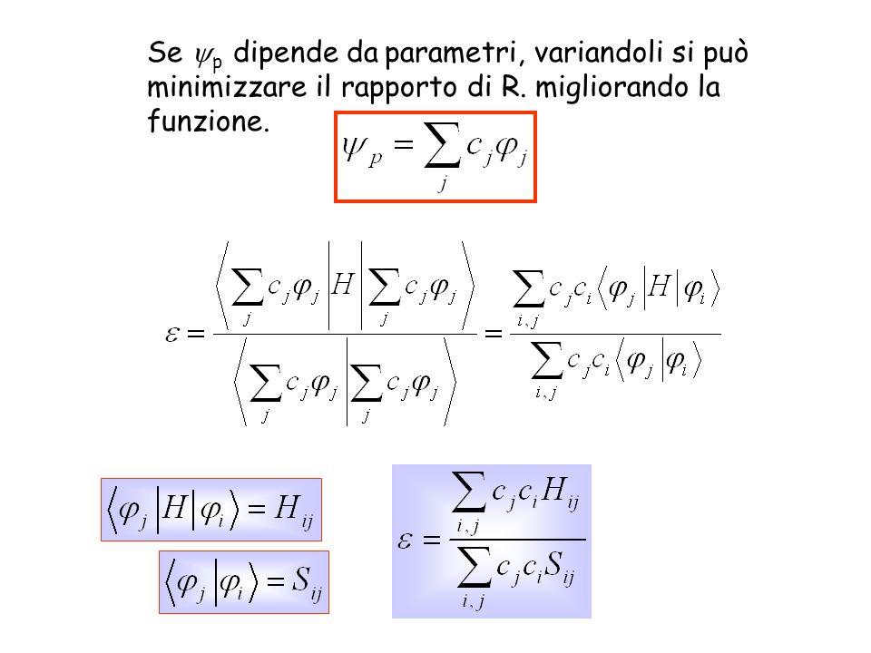 Se p dipende da parametri, variandoli si può minimizzare il rapporto di R. migliorando la funzione.
