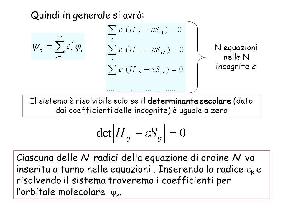 N equazioni nelle N incognite ci