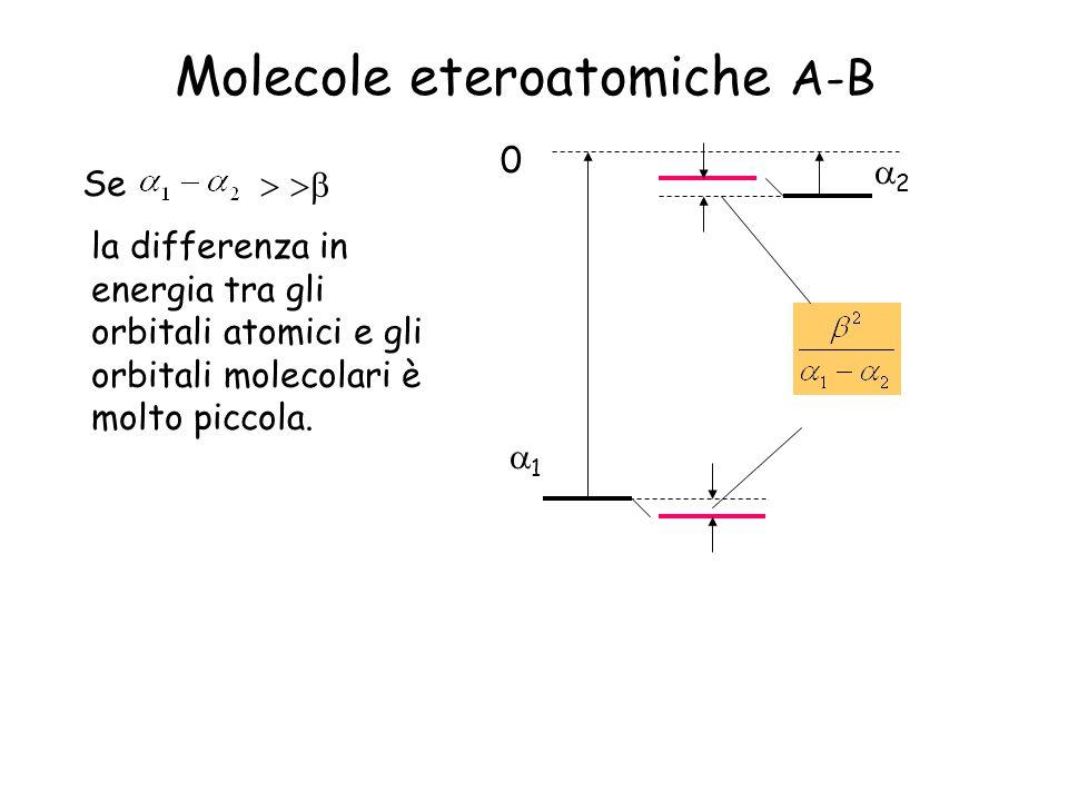 Molecole eteroatomiche A-B