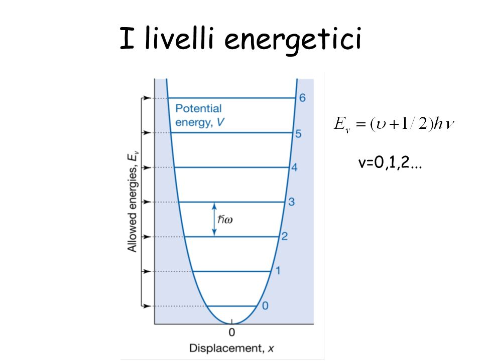 I livelli energetici v=0,1,2...